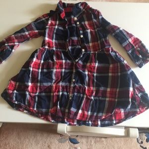 H&M flannel dress (size 1.5-2 year)